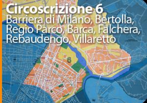 Carroattrezzi Torino, soccorso stradale, Carroattrezzi Torino circoscrizione 6
